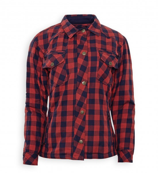 Bores Lumberjack Damen Jacken-Hemd in Holzfäller Optik rot, reißfest,