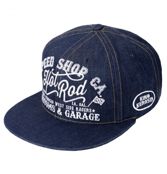 KING KEROSIN Cap im coolen Denim-Style Hot Rod