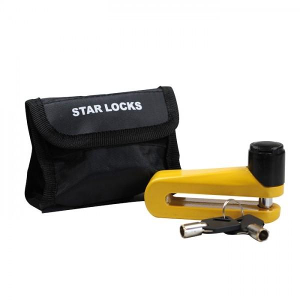 Bremsscheibenschloß gelb 10 mm Dorn mit Tasche im Blister