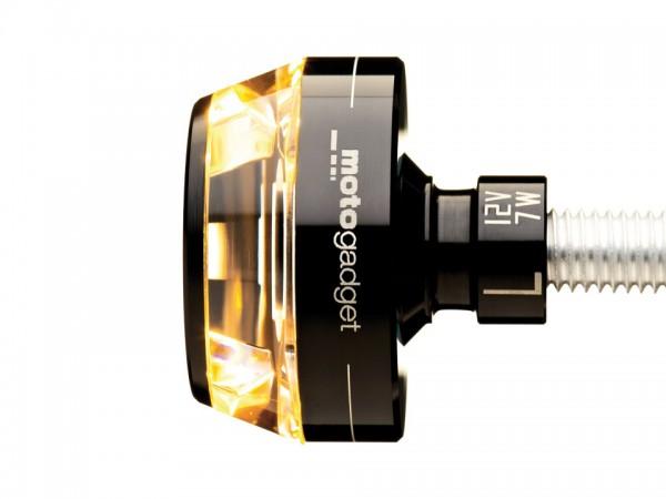 motogadget Lenkerendenblinker m-Blaze DISC, schwarz, links