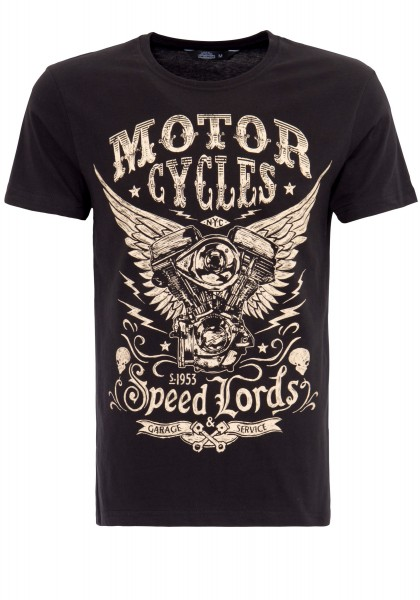KING KEROSIN T-SHIRT MIT FRONT PRINT MOTOR CYCLES
