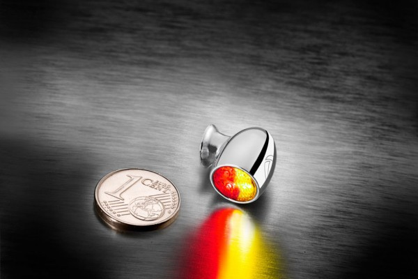 Bullet Atto DF, Rück-/Bremslicht Blinker, chrom, klares Glas, Stück