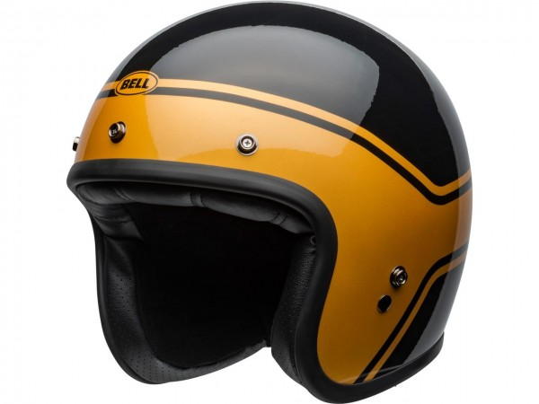 BELL Custom 500 DLX Helm Streak Gloss Black/Gold