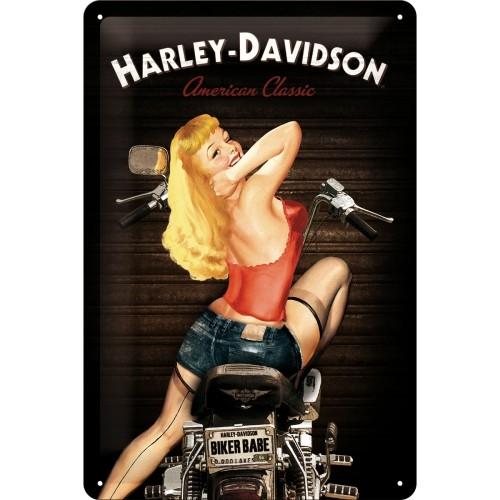 Harley-Davidson Biker Babe 30 x 20 cm (Länge / Breite)
