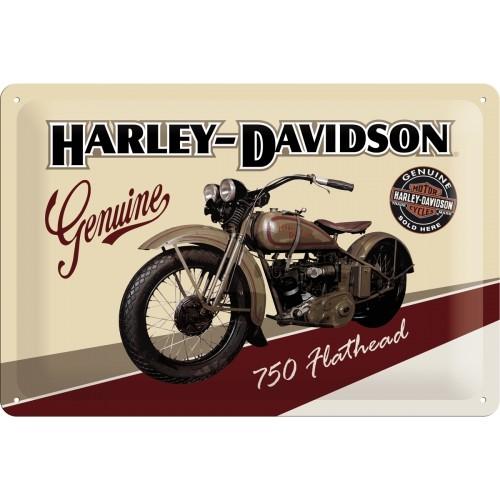 Harley-Davidson Flathead 20 x 30 cm (Länge / Breite)