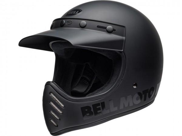 BELL Moto-3 Classic Helm Matte / Gloss Blackout