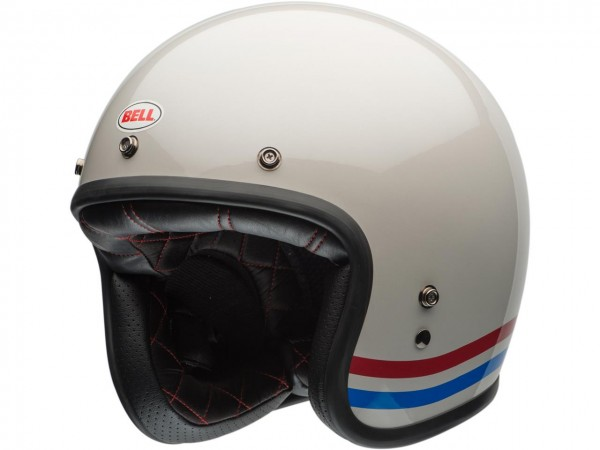 BELL Custom 500 DLX Helm Stripes Pearl White