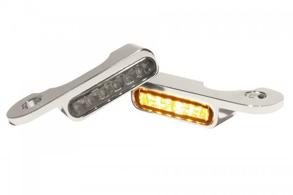 HeinzBikes LED Armaturen Blinker TOURING Modelle hydr.Kupplung, silber, E-geprüft