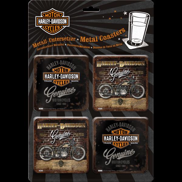 Harley-Davidson Genuine Set Untersetzer-Set (4teilig)