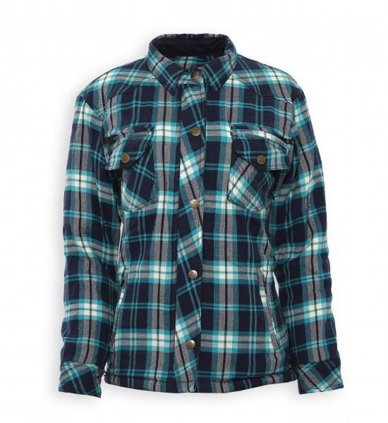 Bores Lumberjack Damen Jacken-Hemd in Holzfäller Optik blau, reißfest,Fashion