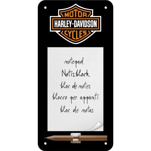 Harley-Davidson Logo Notizblock 10 x 20 cm (Länge / Breite)