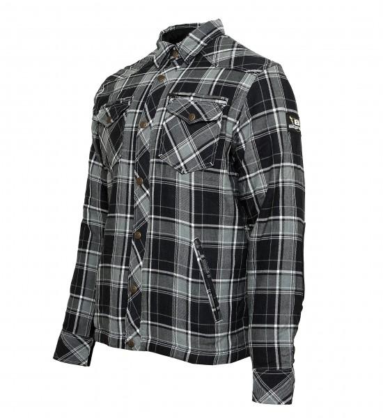Bores Lumberjack Jacken-Hemd in Holzfäller Optik grau-schwarz-weiss, reißfest