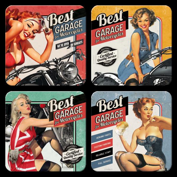Untersetzer-Set Best Garage 4 tlg.