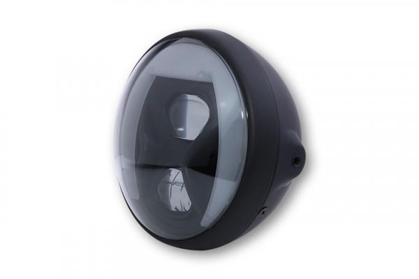 HIGHSIDER 7 Zoll LED Scheinwerfer BRITISH-STYLE TYP 8 mit TFL, Kurvenlicht