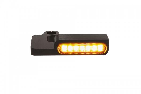 HeinzBikes LED Armaturen Blinker SPORTSTER Modelle 1996-2013, schwarz, E-geprüft